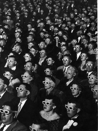 2597563-d-movie-viewers-during-opening-night-of-bwana-devil-posters